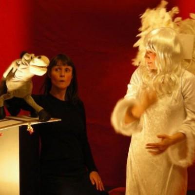 Die Weihnachtsgeschichte erzählt vom Engel und vom Esel